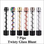 7 Pipe Twisty Glass Blunt Dry Herb Vaporizer / Dry Herb Pipe