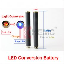 Red LED Conversion Blue LED Light 808D-1 battery Auto Mini KR808D Battery with diamond for KR808d Ecigarettes