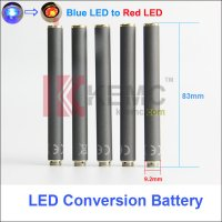 Blue LED Conversion Red LED Light KR808D-1 battery with diamond on the bottom Auto Mini KR808D Battery