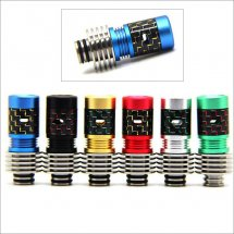 Adjust airflow 510 drip Tips Carbon Fiber Mouthpiece with heat sink for Diy Atomizer with removable drip tip 510 style