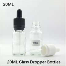 20ml empty Glass eye dropper Bottles for E-juice / E-liquid Transparent Container