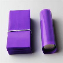 Purple -18650 battery Shrink Tube PVC Heat insulation Re-wrapping film for 18650 series battery(100-pack)