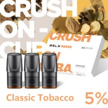Classic Tobacco Flavor Relx Vape Pods 3pcs / Pack - 5% Nicotine