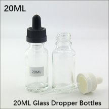 20ml empty Glass drip Bottles for E-juice / E-liquid Transparent Container