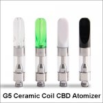 510 Thread Cartridge G5 Ceramic Coil CBD Atomizer For Thick Oil Vaporizer