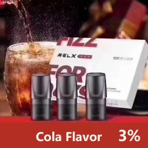 Cola Flavor Relx Cartridges 3pcs / Pack - 3% Nicotine