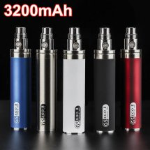 GS EGO II 3200mah Battery Vaporizer Ecig Batteries Huge Capacity For aspire Nautilus Mini Tank Free shipping