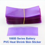 Transparent Purple 18650 battery Heat Shrink Re-wrapping Short Circuit Protection Sticker