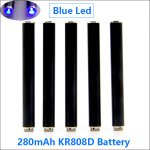 280mAh AUTO KR808D-1 battery with diamond(Black-Blue led light)