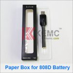 Package Paper Box with Plastic inner care for 808D-1 battery and 510 battery electronic cigarettes