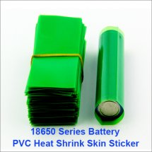 Transparent Green-PVC Shrink Wraps Heat insulation Re-wrapping Tube for 18650 series batteries online wholesale