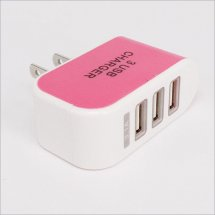3 USB Ports Wall Charger led light 5V 3.1A AC Adapter US EU Travel Convenient Power Adapter for eCigs