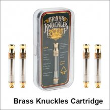 510 thread Gold brass knuckles cartridge with ceramic coil for vape pen e-cigarette