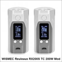 Original Wismec Reuleaux RX200S 200w vape mods Temp Control box mod with 5 colors