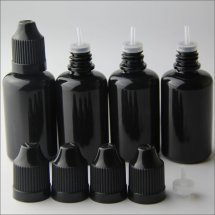 Black 30ml dropper bottles with Childproof cap thinner dropper plastic empty e-juice bottles