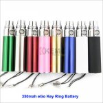 Mini 350mAh eGo Key Ring Battery for eCigarettes eGo-T Mega battery online wholesale