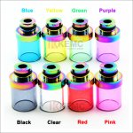 Glass 510 drip tips Colorful wide 510 Mouthpiece for E Cigarette Atomizer with removable drip tip 510 style