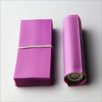 Pink-72mm Shrink seals sleeves PVC Heat insulation Re-wrapping film for 18650 series battery 100pcs per lot
