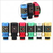 Adjust airflow 510 drip Tips Carbon Fiber Mouthpiece for Diy Atomizer with removable drip tip 510 style