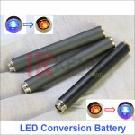 Blue LED Conversion Red LED Light 808D-1 battery Auto Mini KR808D Battery with diamond for KR808d  Ecigarettes