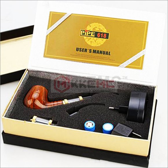 E-pipe 618 electronic cigarette kit High quality E pipe 618 2.5ml Atomizer With 18350 Battery