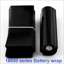 Black-18650 Shrink Wraps PVC Heat insulation Re-wrapping Tube for 18650 series battery shrink seals wholesale