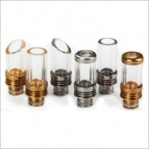 Glass 510 drip tips for E Cigarette Vaporizer with removable drip tip 510 style