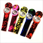 Silicone Water Pipe Color printing Tobacco Smoking Cigarette Water Pipe