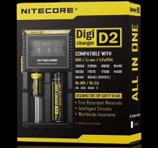 100% Original NITECORE D2 Charger With LCD Display For 18350 18650 18500 Li-ion & Ni-MH battery