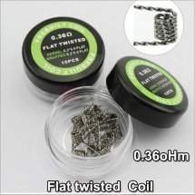 Flat Twisted Coils for DIY RDA RBA Prebuilt Atomizer premade coil