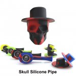 Skull Silicone Pipe For Herb Smoking