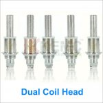 Kanger Upgraded Dual Coil Head Atomizer Core for evod2 T3D protank3 Aerotank Genitank EMOW Mega Atomizers(1pcs)