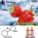 Strawberry Ice Nicosalt e-liquid 100% Original 50ml Dekang Nicotine Salt E-juice