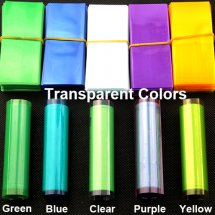 Transparent Heat PVC Shrink Sleeve film for 18650 battery protection (10-pack)