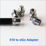 510 to eGo Thread Adapter for e cigarettes Battery Box 510 Mod connect eGo atomizer become eGo mod