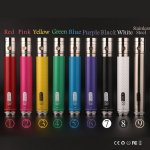 GS EGO II Twist 2200mAh Battery for e-cigarettes eGo vv Twist Battery eGo variable voltage Battery 3.3-4.8v Free shipping