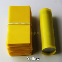 Yellow-Shrink wraps 18650 wholesale PVC Heat insulation Re-wrapping Tube for 18650 series battery