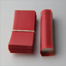 Red-18650 battery Shrink Wraps PVC Heat insulation Re-wrapping Tube for 18650 series battery