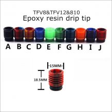 Epoxy Resin 810 drip tips for TFV8&TFV12 Atomizer