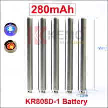 Steel 280mAh KR808D-1 battery with diamond for Kanger 808d-1 DSE901 eCigarettes 280mah 808D-1 Battery