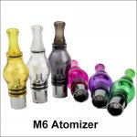 M6 Atomizer 4ml Glass Globe Tank Dry Herb wax Clearomizer for eGo thread e-cigarette