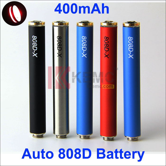 400mAh 808D-X AUTO  battery with diamond for 808D-1 E-Smart E-Slim eCigarettes Newest Auto 808D thread Battery