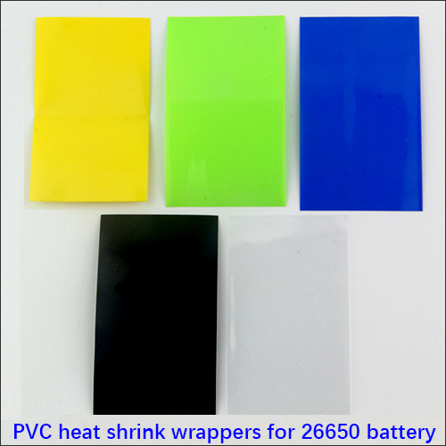 26650 battery Heat Shrink Re-wrapping PVC shrinkable wrappers